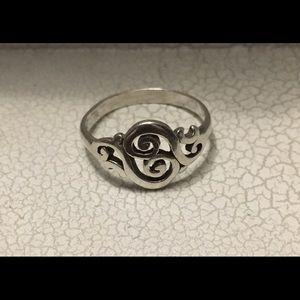 James Avery Sterling Silver Swirl Ring